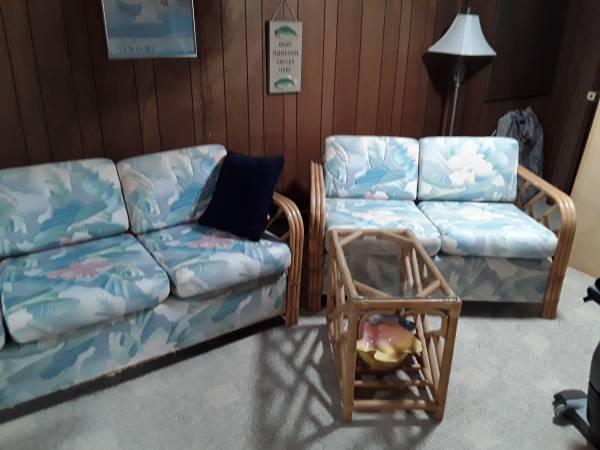 Wicker porch furniture set (Westerly, RI) $250