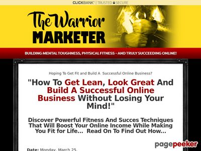 The Warrior Marketer | Building Mental Toughness, Physical Fitness and Truly Succeeding Online!