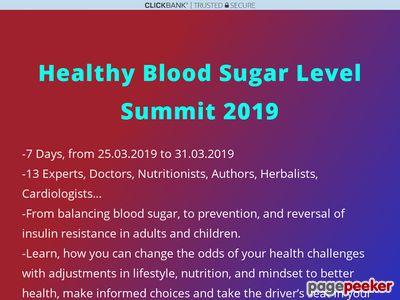 healthy blood sugar level summit |