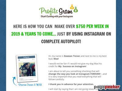 Instagram Auto-Income 2019 – Join Now – Make Money – ProfitsGram