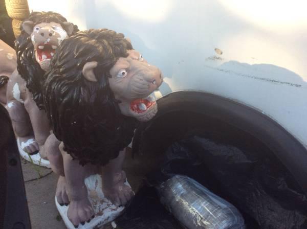 Concrete lions (Taunton) $200