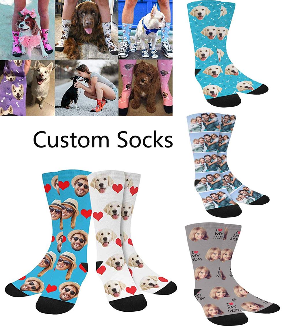 Custom Face/Pet Socks – Add Your Photo – Birthday – Men/Women Christmas Gift