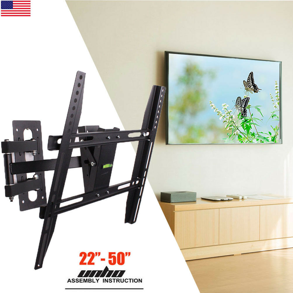 Moveable Wall Mount TV Bracket Hanger Holder Universal For 32 39 40 43 46 50inch