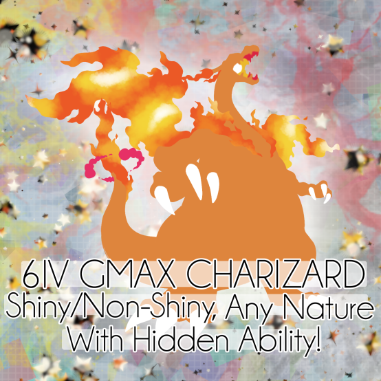 Shiny 6IV Gigantamax Charizard for Pokemon Sword And Shield {FAST DELIVERY}