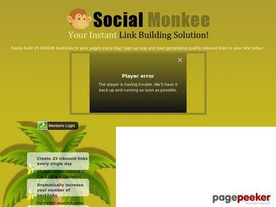 SocialMonkee – Your Instant Backlink Builder!
