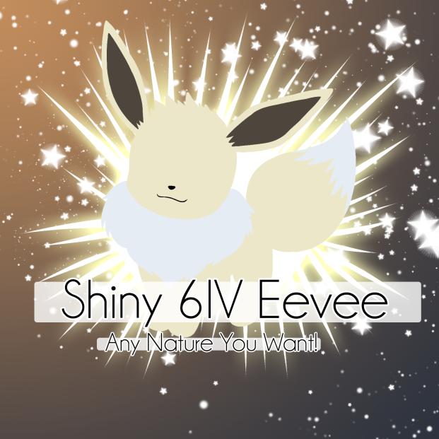 Pokémon 6IV Shiny Eevee | Pokemon Sword and Shield  [ANY NATURE!] [FAST!]