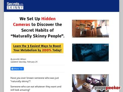 Hidden Cameras Reveal Secrets of the Skinny; and how you can use these to double your metabolism!