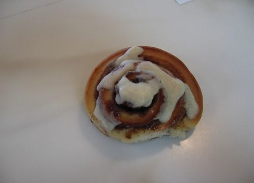 home made cinnamon roll