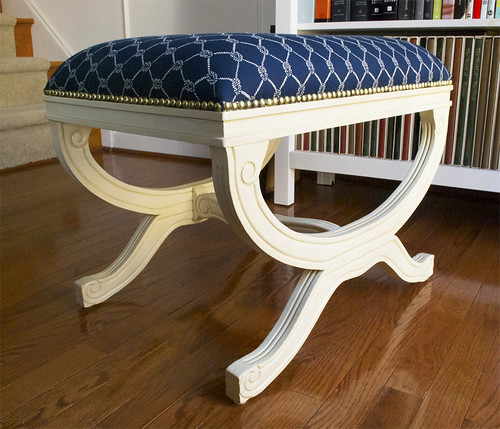 Home Goods Nautical Upholstered Stool 2