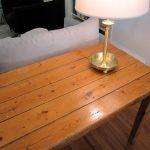 antique plank harvest table (close up)