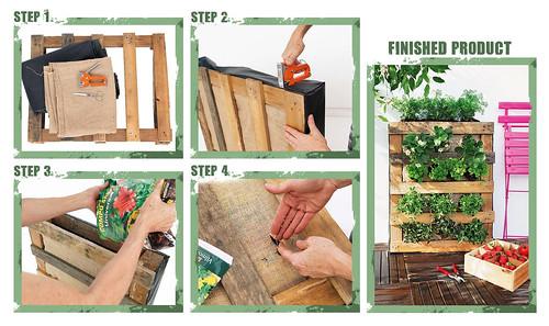 How to build a DIY pallet vertical garden.