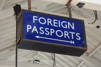 East Anglian Railway Museum – The Goods Shed – sign – Foreign Passports