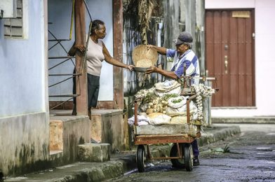 Home delivery of goods, Baracoa, Cuba