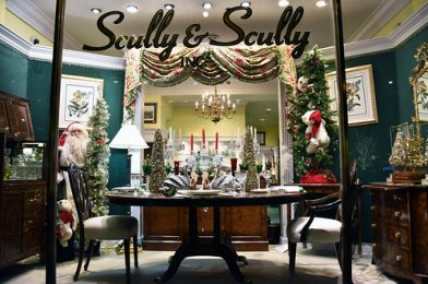 Picture Of 2017 Holiday Window 4 Of Scully & Scully Located At 504 Park Avenue At 59th Street In New York City. Scully & Scully Is A High End Home Goods Store. Photo Taken Wednesday December 20, 2017