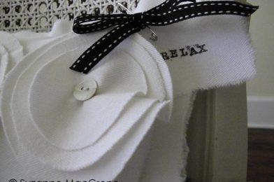 RELAX ~ Cotton Boudoir Pillow