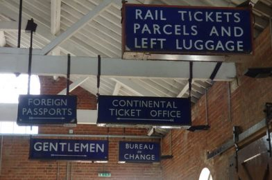 East Anglian Railway Museum – The Goods Shed – signs – Rail Tickets Parcels and Left Luggage