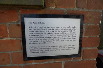 East Anglian Railway Museum – The Goods Shed – plaque