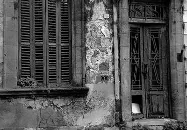 Monochrome, Inside The Walled City, Abandoned Property, Famagusta, Turkish Republic Of North Cyprus.