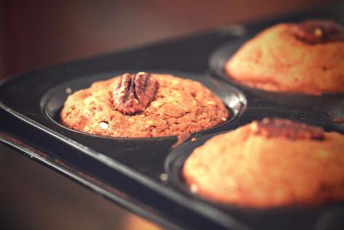 Good morning apple pecan muffins