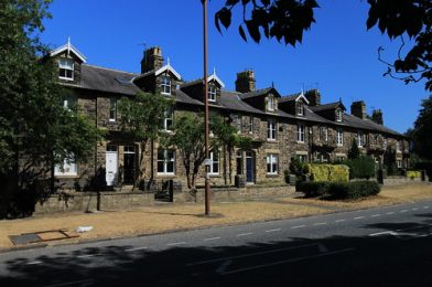 Architecture, Row Of Terraced Houses, Stockton Road, Durham City, County Durham, England.