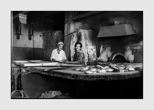 Baker and assitant, Aswan Egypt - August 1981