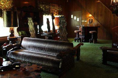 Room Interior, Elvis Presley, Graceland, Memphis, Tennessee, United States Of America.